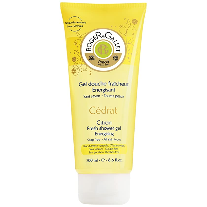 不道徳アブストラクトペンフレンドロジャー&Galletのシトロンフレッシュシャワージェル200ミリリットル (Roger & Gallet) (x2) - Roger & Gallet Citron Fresh Shower Gel 200ml (Pack of 2) [並行輸入品]