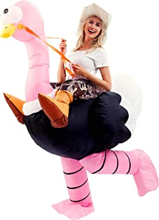 Inflatable Costume Riding an Ostrich Air Blow-up Deluxe Halloween Costume - Adult Size