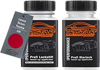 TRISTARcolor Autolack Lackstift Set für Lexus/Scion/Toyota 3J6 Super Red III/Solar Red Basislack Klarlack je 50ml