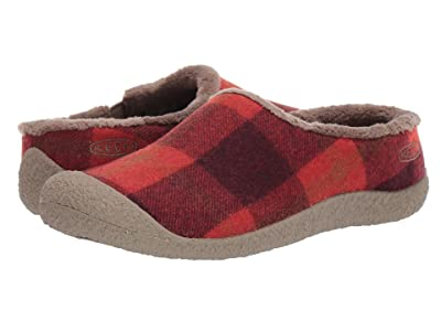 Keen Howser Slide (Red Plaid/Brindle) Women