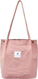 Keyuhan Canvas Tote Bag with Zipper Inner Pocket and Bottom.