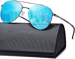 083f8ed042 AVAWAY Gafas de Sol Espejadas con 100% Protección UV400, Marco Metálica  Super Ligero Irrompible