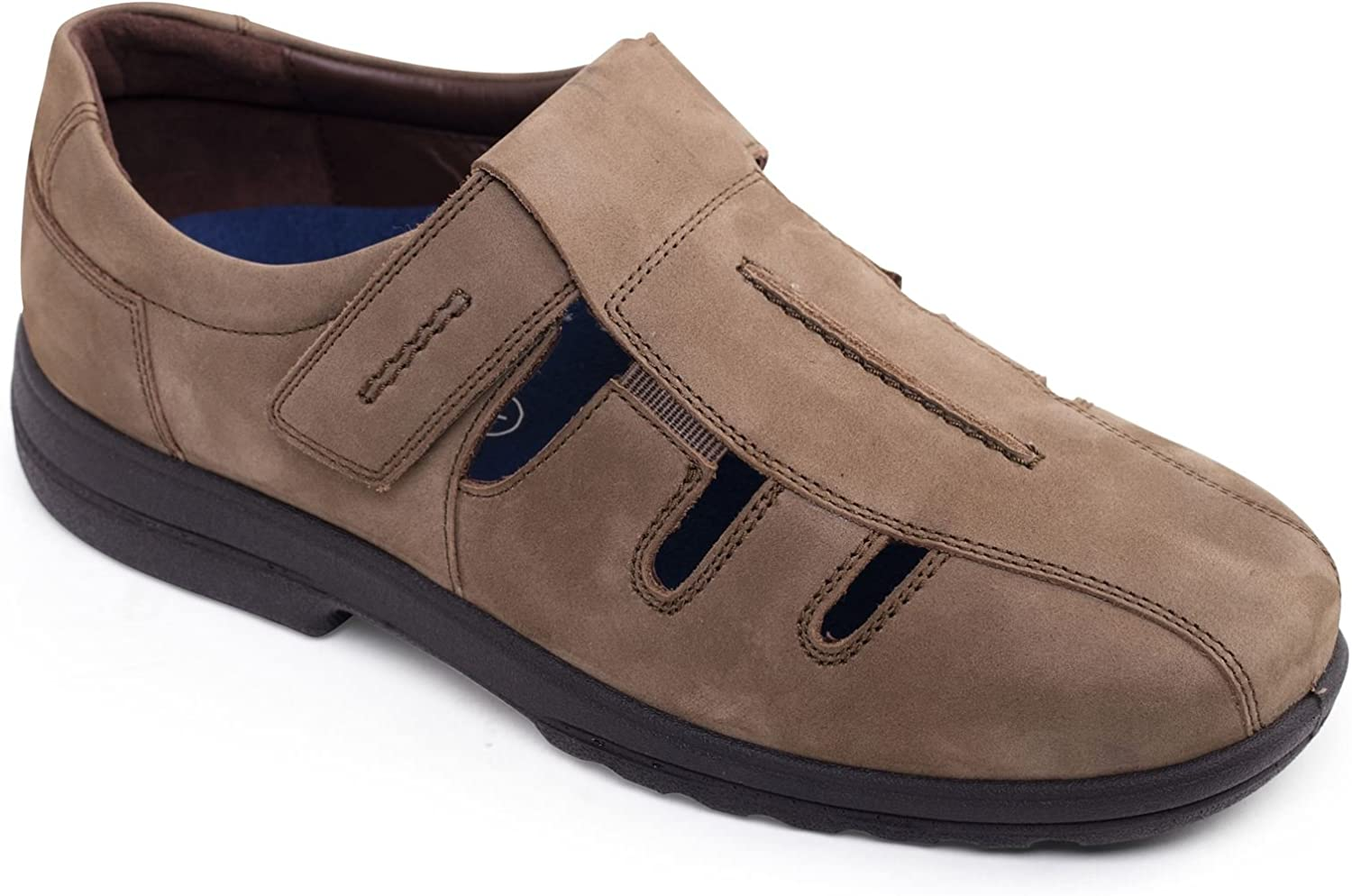 Padders Plus Men's Leather shoes 'Dawlish'   Plus+ Range For Extra Width & Depth   Dual Fit System   Ultra Wide H-K Fit   Free Footcare UK shoes Horn