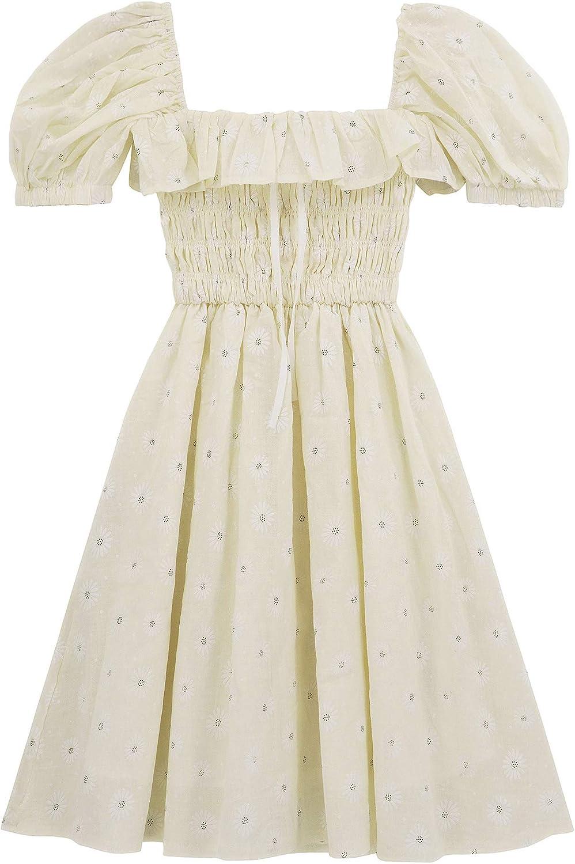 R.Vivimos Women's Summer Linen Short Columbus Mall Floral Ruffled Sleeve Print Minneapolis Mall