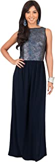 Womens Long Sleeveless Party Cocktail Special Evening Gown Maxi Dress