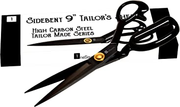 Scissors 9 inch - Professional Heavy Duty Industrial Strength High Carbon Steel Tailor Scissor Shears for Fabric Leather Sewing Dressmaking Tailoring Home Office Artists Students Tailors Dressmakers