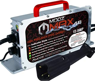 MODZ Max48 15 AMP Yamaha G29 Drive & Drive 2 Battery Charger for 48 Volt Golf Carts