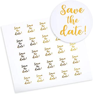 Paper Junkie 200-Count Save The Date Envelope Seal Sticker Labels, 1 Inch