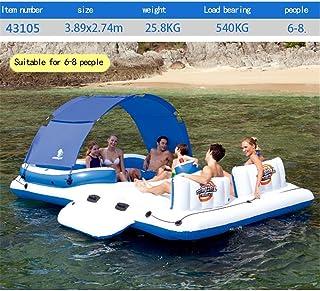 Cama flotante inflable del barco de la piscina grande, silla del salón del anillo de la natación de la fila flotante Jugue...