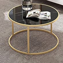 End Table Side Table Nightstand Coffee Table Coffee Tables Simple Living Room Table Sets, Marble Look Sofa Side Tables Rou...