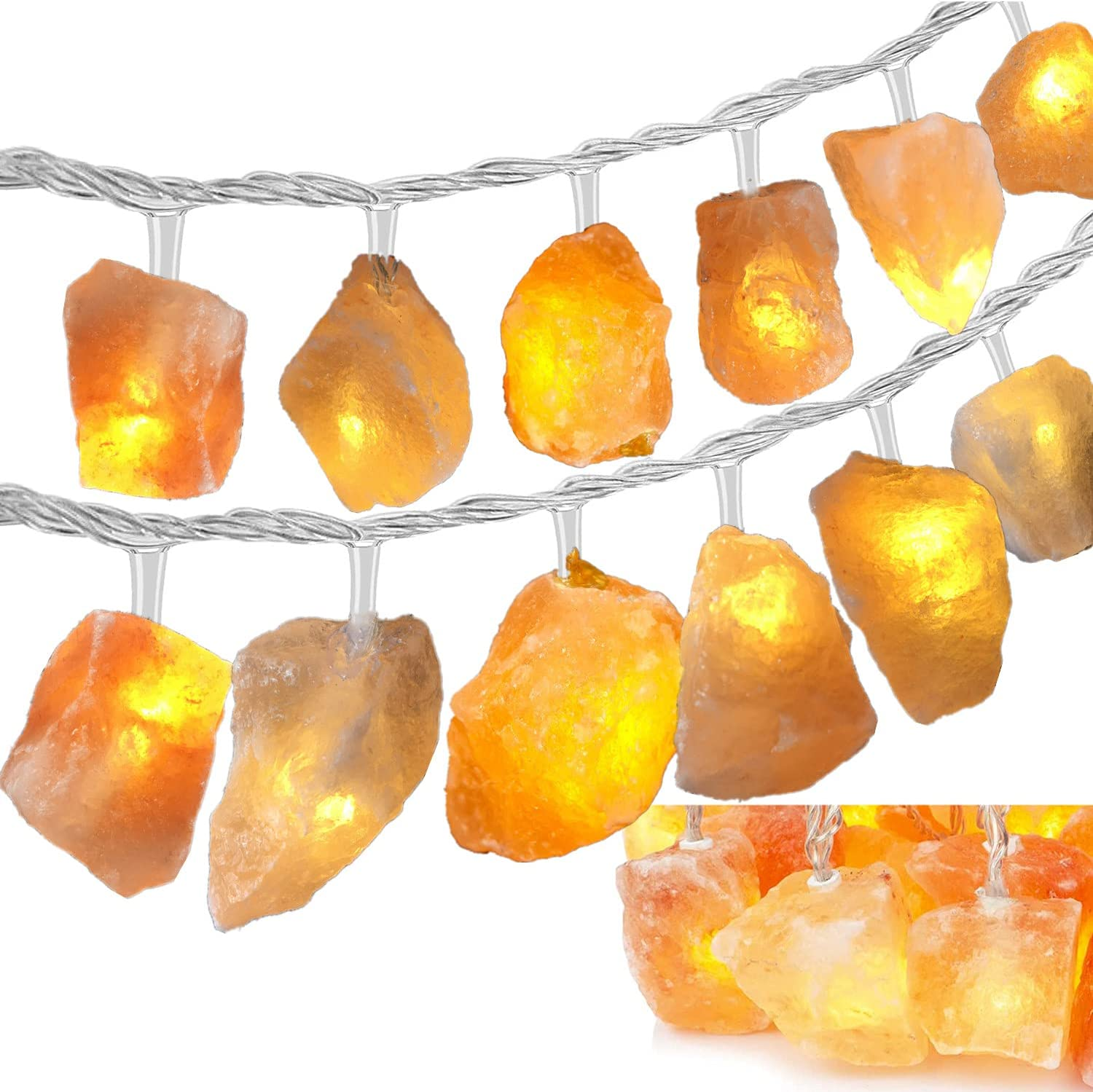 Himalayan Salt Light String excellence Sales for Bedroom 11.5ft Rock 20 with USB