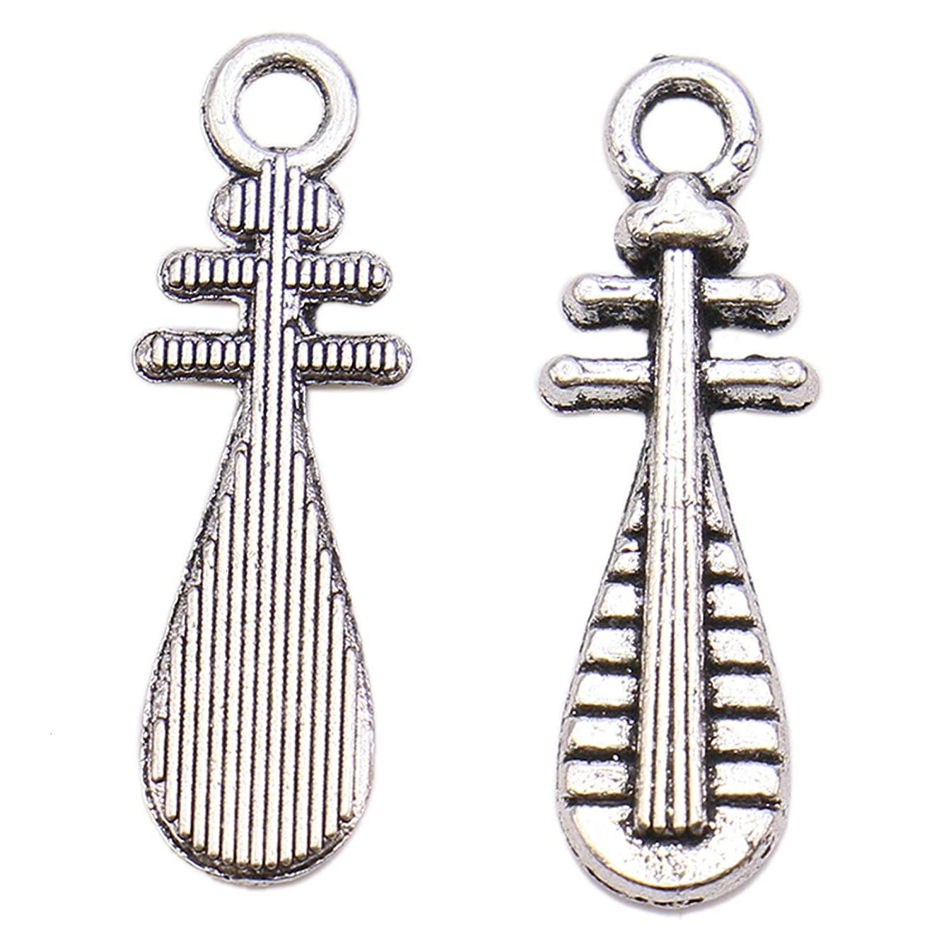 Monrocco 100 Pcs Musical Instruments Charms Pendant Jewelry Findings for Jewelry Making Necklace Bracelet