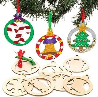 Satz von 20pcs Weihnachten Schneemann Weihnachtsbaum Holz Tags hängen
