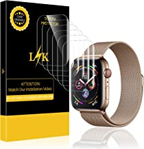 6 Pack LK Screen Protector for Apple Watch 44mm Series 5/4 Max Coverage Flexible Film with Lifetime Replacement Warranty