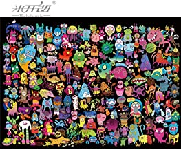kkxka wooden Puzzle Monsters Cartoon Animal Kid Educational Toy Wall Painting Home Decor(1000 Pieces)