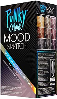 Punky Colour Black To Lilac Mood Switch Heat Activated Hair Color Change, Temporary Hair Effect