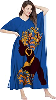 RADANYA African Print Dashiki Cotton Maxi Caftan for Women