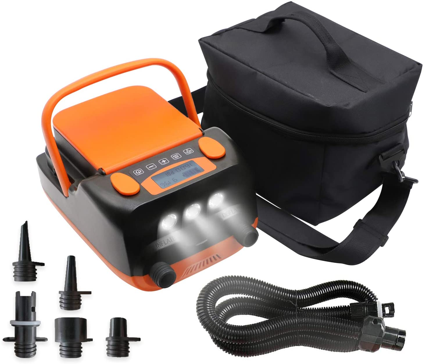 Tuomico 6000mAh Rechargeable LCD Electric Air Po Pump 市場 贈答 USB with 2