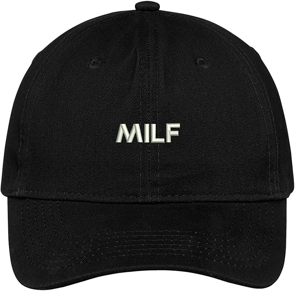 Trendy Apparel Shop Milf Embroidered Soft Cotton Low Profile Dad Hat Baseball Cap