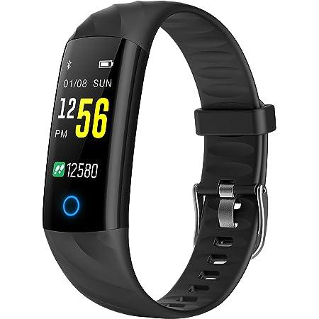 BINDEN Smartband S5 Presión Arterial, Ritmo Cardíaco, IP68, Podómetro, Oxigeno en Sangre, Notificaciones, Multi-Sport, Tiempo de Actividad - Negro