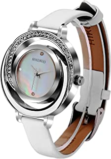 AIKURIO Ladies' Stylish Watch Analog Quartz with Leather Strap 30M Waterproof AKR002