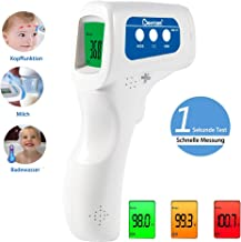 Berrcom No-Contact Infrared Forehead Thermometer Medical Grade Baby Fever Check Thermometer 4 in 1 Multifunctional Fever Alarm Memory Recall for Kids Infant Adult with FDA and CE