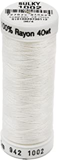 Sulky 942-1002 Rayon Thread for Sewing, 250-Yard, Soft White