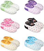 GHB 6 x Calzini per Bambini Calzini Antiscivolo Cotone 6 Colori per 8-38 Mesi Neonati e Bambini - 6 Paia Colorati(12cm)