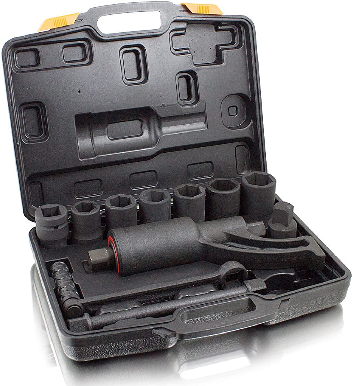 BITUXX® Drehmomentverstärker Drehmomentvervielfältiger 5500 nm Drehmomentschlüssel Drehmomentschlüssel Drehmomentschlüssel 11 tlg Set mit 24,27,30,32,33,36,38 mm Stecknüssen B01NAGW6DX | Gutes Design  ec93ae