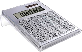 Sponsored Ad - EXPUTRAN Acrylic Calculator with Stand, Battery and Solar Hybrid Powered Basic Calculator 12-Digit LCD Disp... photo