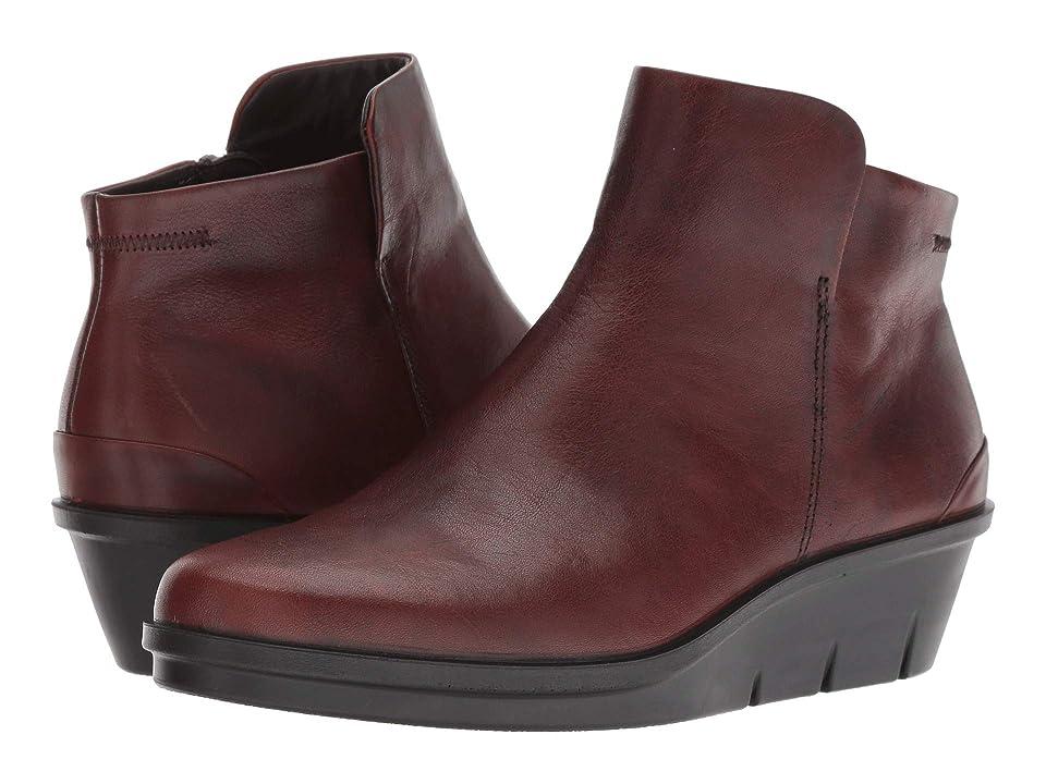 ECCO Skyler Wedge Bootie (Cognac Cow Leather) Women