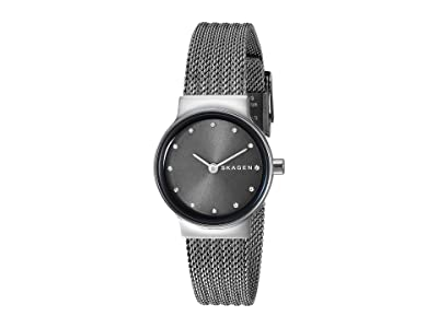 Skagen Freja Two-Hand Stainless Steel Mesh Watch (SKW2700 Dark Gray Stainless Steel Mesh) Watches