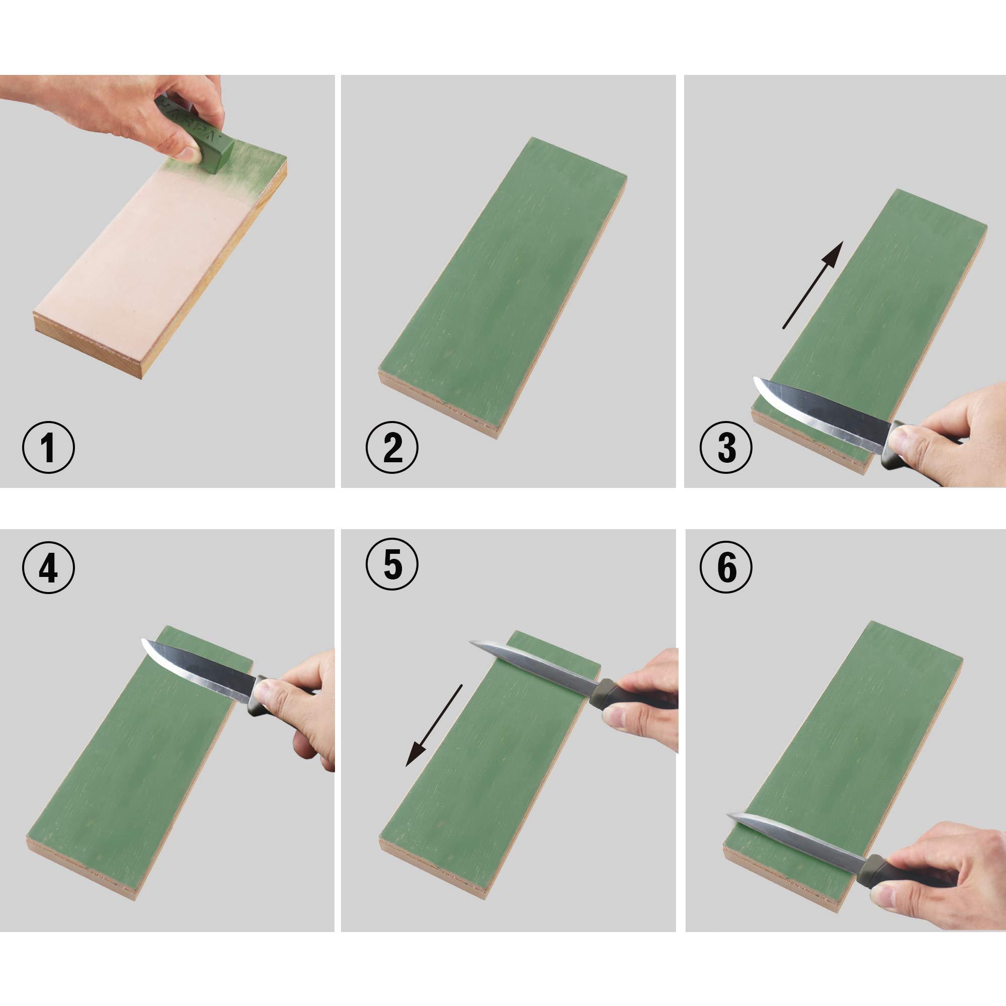 cinceles para tallar madera maquinilla de afeitar recta SHARPAL Bloque para afilar y afilar cuchillos