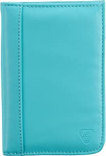 Lewis N. Clark Shetravels RFID-Blocking Passport Wallet, Aqua (Turquoise) - 7043-AQU