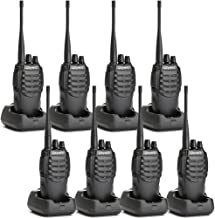 Olywiz HTD826 Two-Way Radio Long Range Walkie Talkies Rechargeable-1800mAH Battery(Ultra-Long Standby) Loud&Clear 16CH UHF Professional Portable Security&Business 2 Way Radios 8Pack