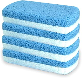 Glass Pumice Stone for Feet, Callus Remover and Foot scrubber & Pedicure Exfoliator Tool Pack of 4