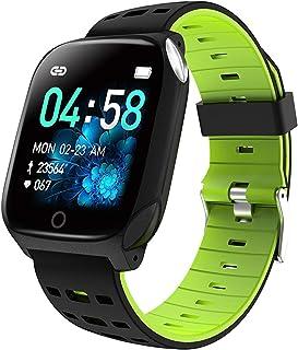 JHHXW Smart Watch, 1.3 Inch Screen, Fitness Tracker, Sports Pedometer Bracelet, IP67 Waterproof, Message Push, Smart Remin...