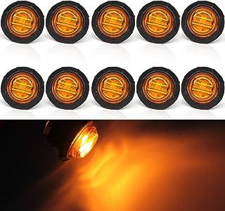 """10 x okrągłe lampki LED bursztyn, biqing 3/4"""" LED przednie tylne boczne kierunkowskazy światło tylne 10 V-30 V wodoodporne..."""