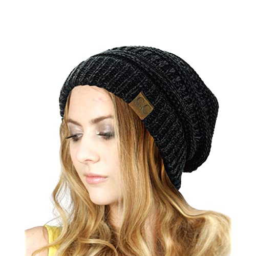 NYFASHION101 Unisex Multicolor Warm Cable Knit Thick Beanie Cap c059541ac1b
