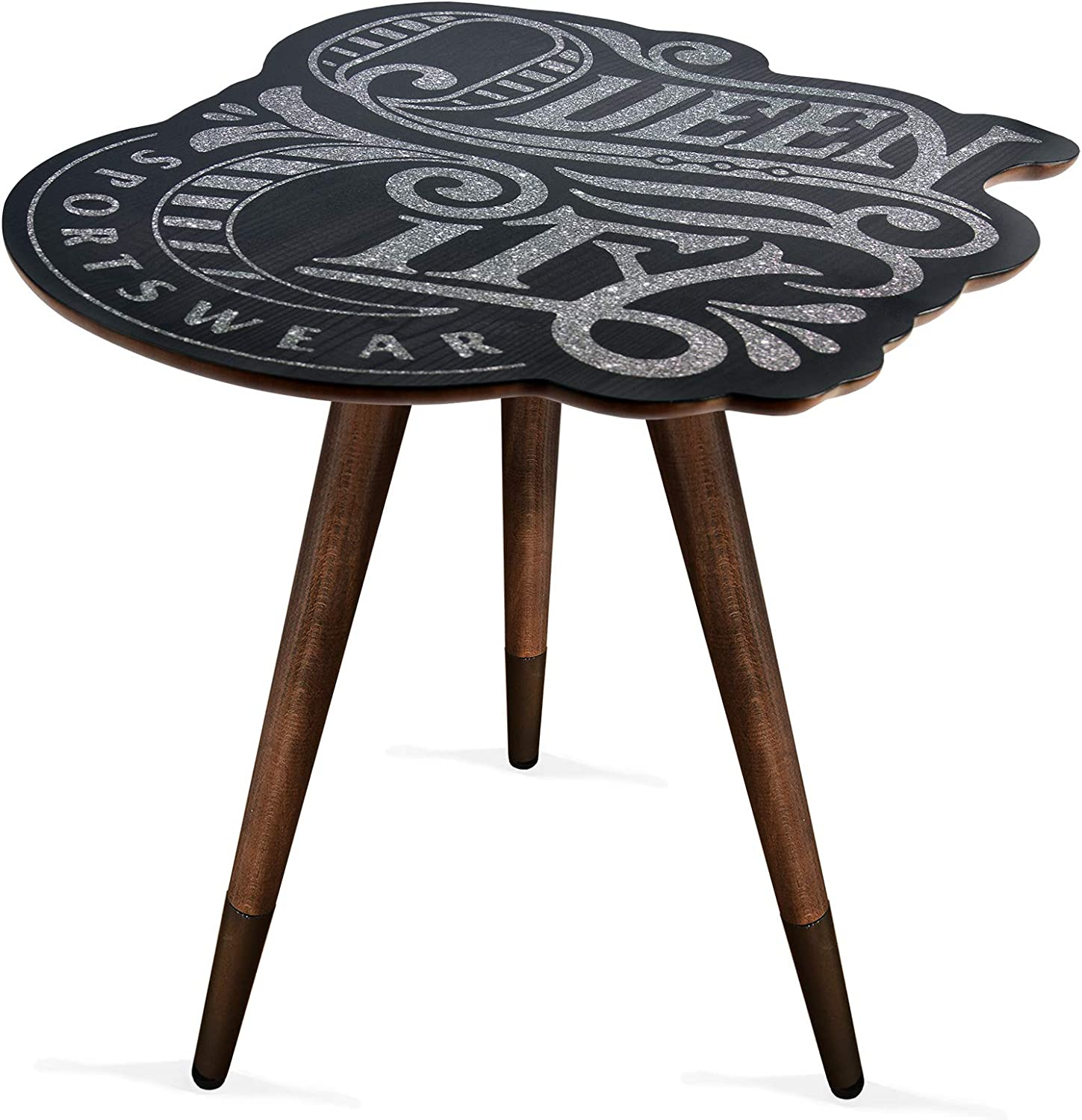 Queen City Print Vintage,Retro, Mid-Century Modern Design Wooden Coffee Table, Cocktail Table for Living Room, Bedroom or Home Office