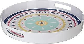 Premier Housewares Mimo Bazaar Tray with Handles, Melamine, Multi-Colour, 38 x 38 x 5 cm