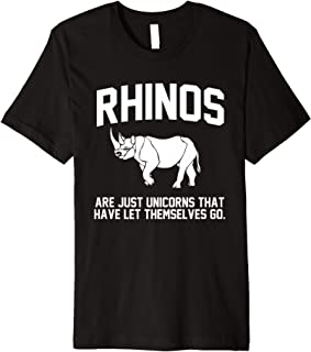 Rhinos are just Unicorns that have let themselves go Premium T-Shirt