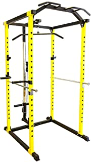 Power Cage Squat Rack LAT Pull Down Dip Bar Bench Press Gym Home Fitness