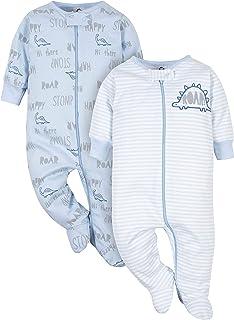 Baby Boys' 2-Pack Organic Sleep 'N Play
