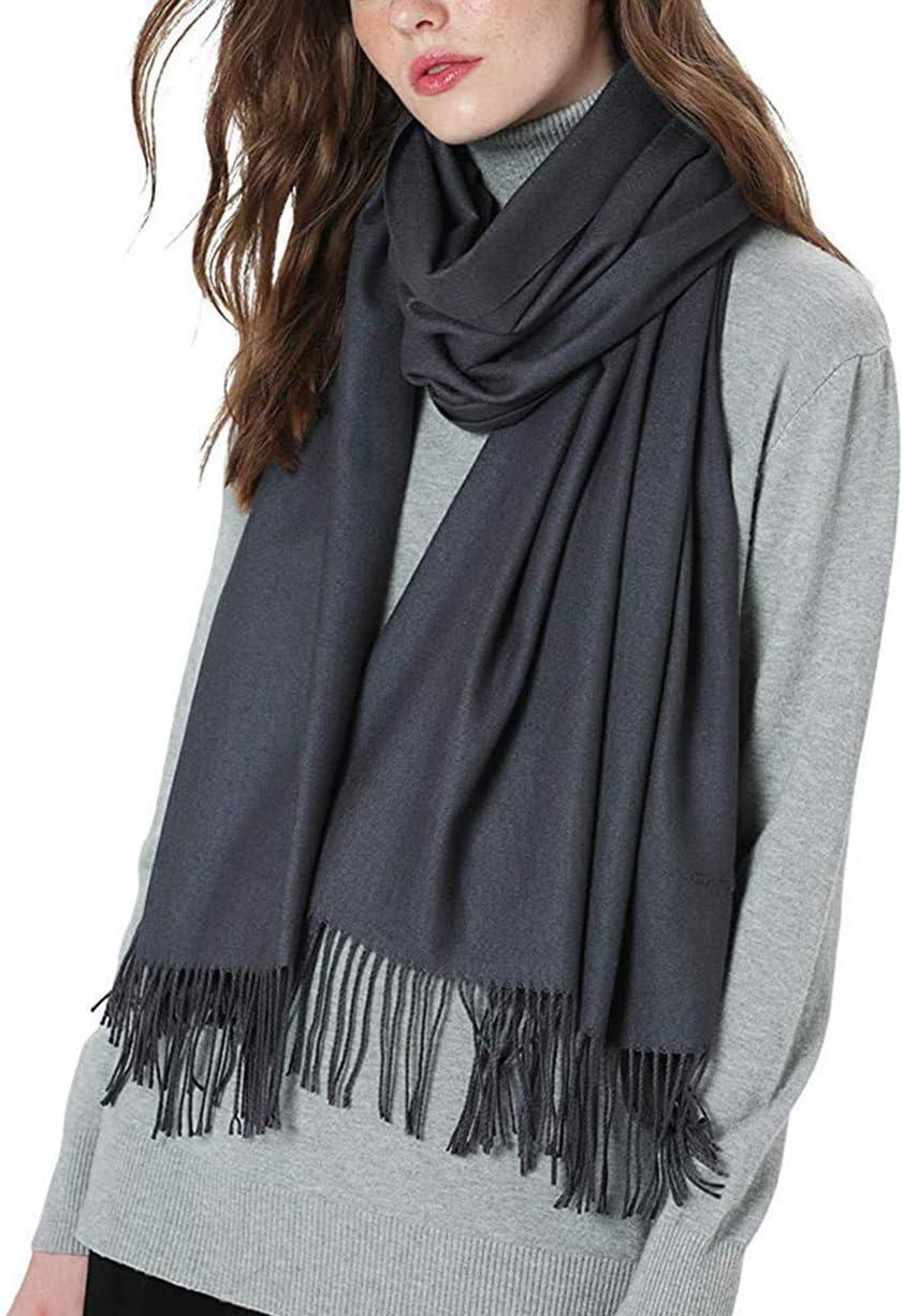 QQAA Wool Soft Warm Knitted Scarf Women's Winter Cashmere