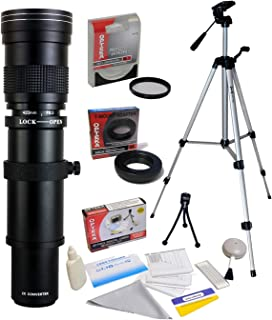 Opteka 420-1600mm f/8.3 HD Telephoto Zoom Lens with 62mm HD UV Filter and 54