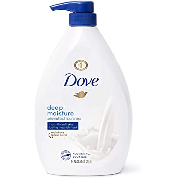 Dove Body Wash with Pump with Skin Natural Nourishers for Instantly Soft Skin and Lasting Nourishment Deep Moisture Effectively Washes Away Bacteria While Nourishing Your Skin, 34 oz