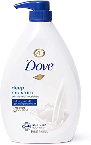 Dove Body Wash with Pump with Skin Natural Nourishers for Instantly Soft Skin and Lasting Nourishment Deep Moisture E...