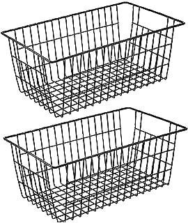 Boîte de rangement de fil Panier de rangement Organizer Rack avec poignées pour armoires de cuisine, garde-manger, Closets...