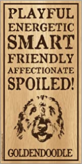 "Imagine This Goldendoodle""Spoiled!"" Wood Sign"